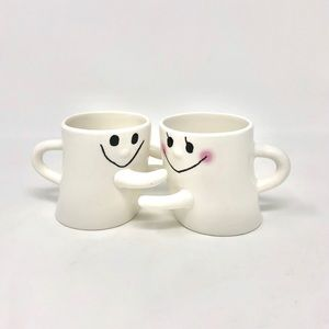 Happy Hugging Ghost Mugs | Set of Two | Small